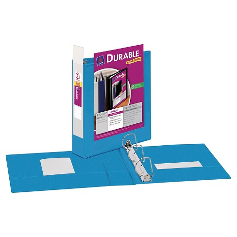 avery 2 durable 3 ring binder with clear cover blue target