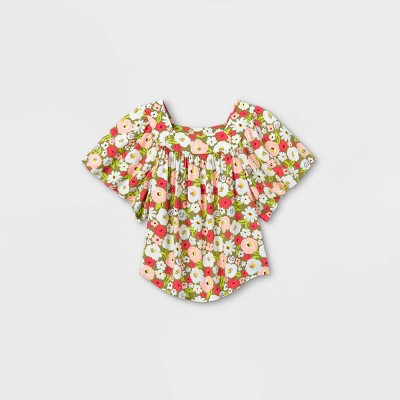 Girls' Short Sleeve Woven Top - Cat & Jack™