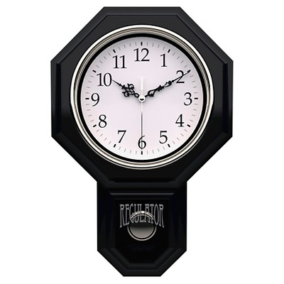 Essex Pendulum Wall Clock Black - TimeKeeper®