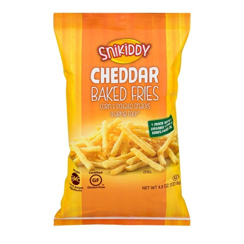 Snikiddy Cheddar Cheese Baked Fries - 4.5oz - image 1 of 3