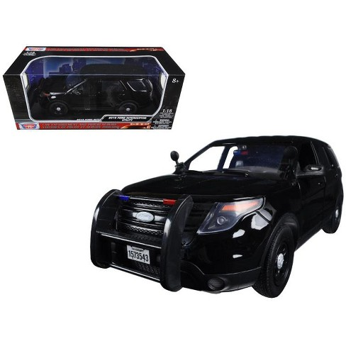 2015 Ford Police Interceptor Utility Special Service Black 1/18 Diecast Model Car by Motormax - image 1 of 1