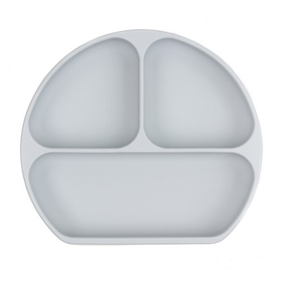 Bumkins Silicone Grip Dish - Gray