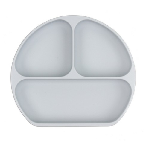 Bumkins Silicone Grip Dish - Gray - image 1 of 4