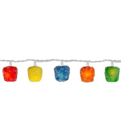 Kurt S. Adler 20 Multi Colored Gumdrops Christmas Novelty Lights - 15 ft White Wire