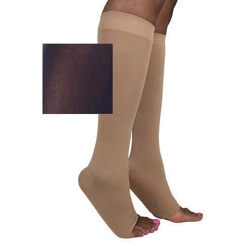 Sigvaris Women's Soft Opaque Calf Length Open Toe 20-30 mmHg - image 1 of 1