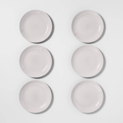7.4  6pk Glass Salad Plates Gray - Made By Design™