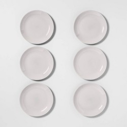 "7.4"" 6pk Glass Salad Plates Gray - Made By Design™"