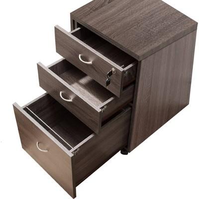 Wide Storage Mobile File Cabinet - Benzara