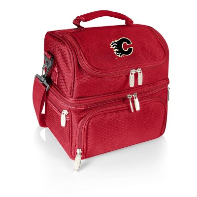 NHL Calgary Flames Pranzo Dual Compartment Lunch Bag - Red