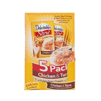 Delectables Stew Chicken and Tuna Lickable Cat Treats