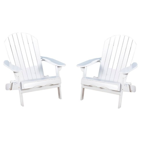 Heavy Duty Sun Lounger, Hanlee Set Of 2 Folding Wood Adirondack Chair White Christopher Knight Home Target