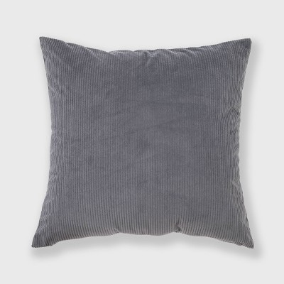 """18""""x18"""" Solid Ribbed Textured Square Throw Pillow Gray - freshmint"""