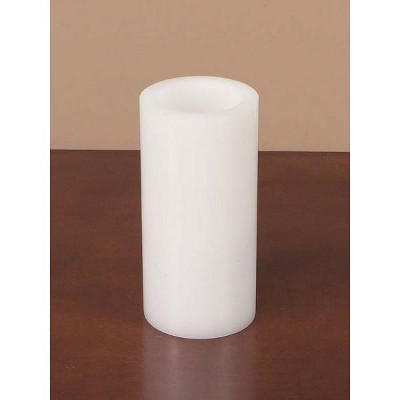 """Melrose 6"""" White Battery Operated Flameless LED Wax Pillar Candle"""