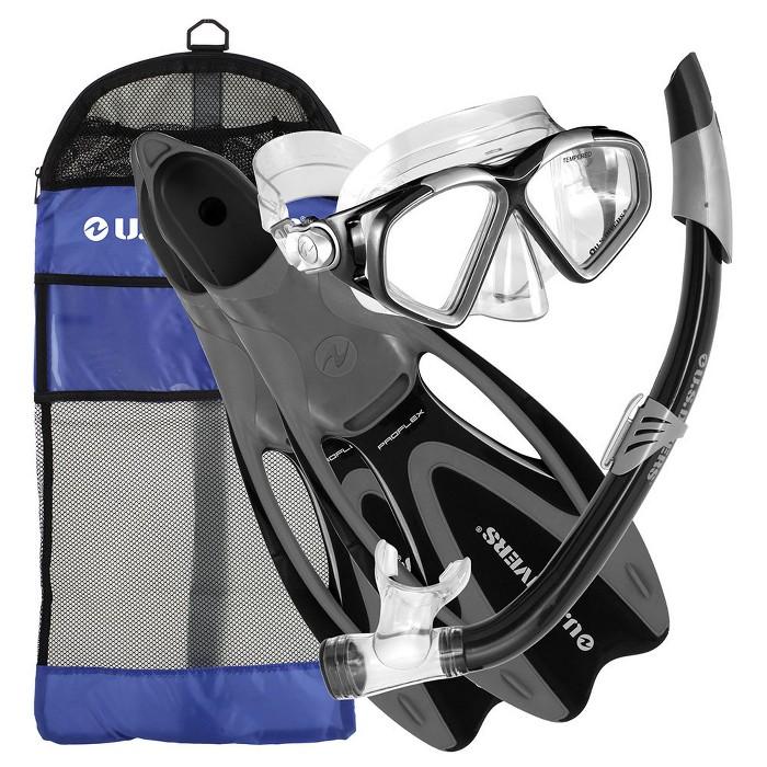 U.S. Divers Cozumel Medium Adult Snorkeling Set with Fins, Mask, Snorkel, & Bag - image 1 of 5