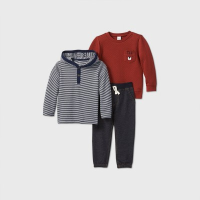Toddler Boys' 3pc Tiger Top and Bottom Set - Just One You® made by carter's Gray/Maroon 2T