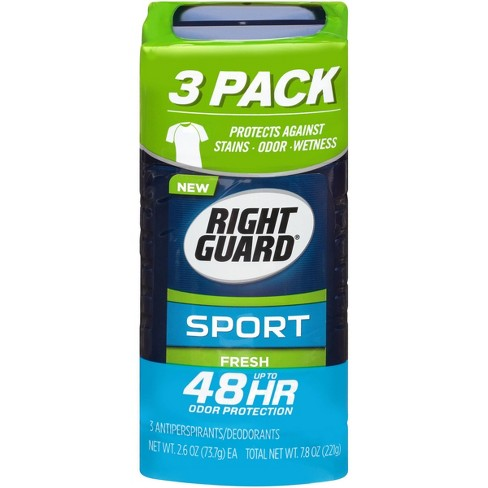 Right Guard Sport Antiperspirant Deodorant Fresh Invisible Solid Stick - 2.6oz/3pk - image 1 of 5