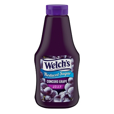 Welch's Reduced Sugar Squeezable Concord Grape Jelly - 17.1oz