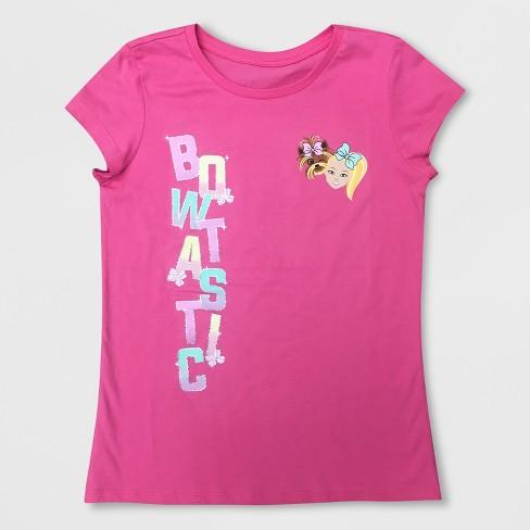321221e6f Girls  JoJo Siwa Short Sleeve T-Shirt - Pink. Shop all Nickelodeon