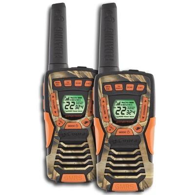 COBRA CXT1045R-FLT 37 Mi Waterproof Floating 2-Way Radios Walkie Talkies, Camo