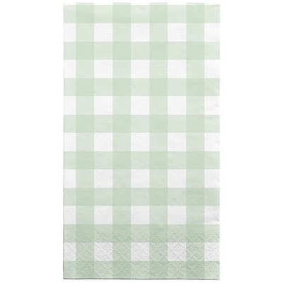 30ct Disposable Lunch Napkins Gingham Green - Spritz™