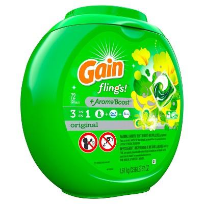 Gain flings! Laundry Detergent Pacs Original - 72ct