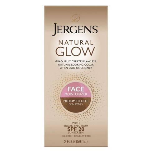 Jergens Natural Glow Face Moisturizer 2oz (Medium/Tan) - image 1 of 3