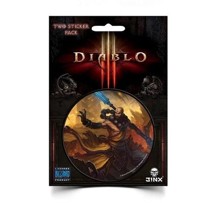 "JINX Inc. Diablo III 3"" Round Sticker 2-Pack: Monk Class"
