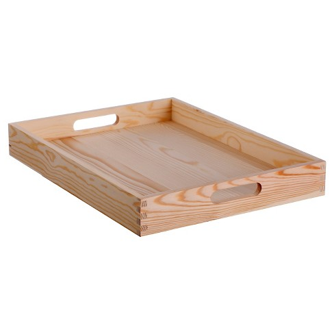 Unfinished Natural Wood Tray Small - Hand Made Modern® - image 1 of 4