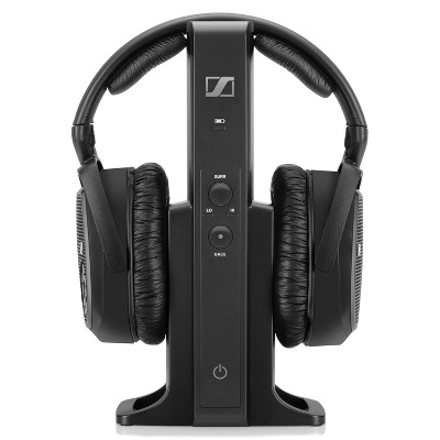 Sennheiser RS175 Closed Circumaural Headphone with 100m Range Multi-Purpose Transmitter (Black)