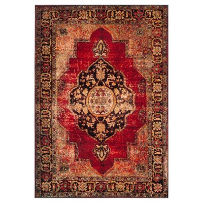 Red/Multi Abstract Loomed Area Rug - (5'3 x7'6 )- Safavieh®