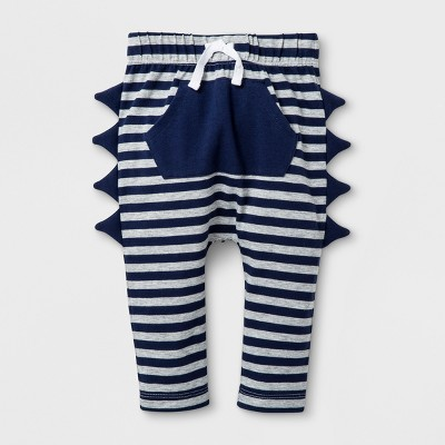 Baby Boys' Joggers with Kangaroo Pocket and Stripes - Cat & Jack™ Navy/White 3-6M