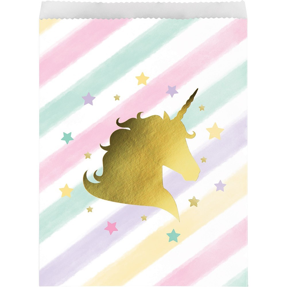 Image of 10ct Unicorn Sparkle Print Paper Treat Bags