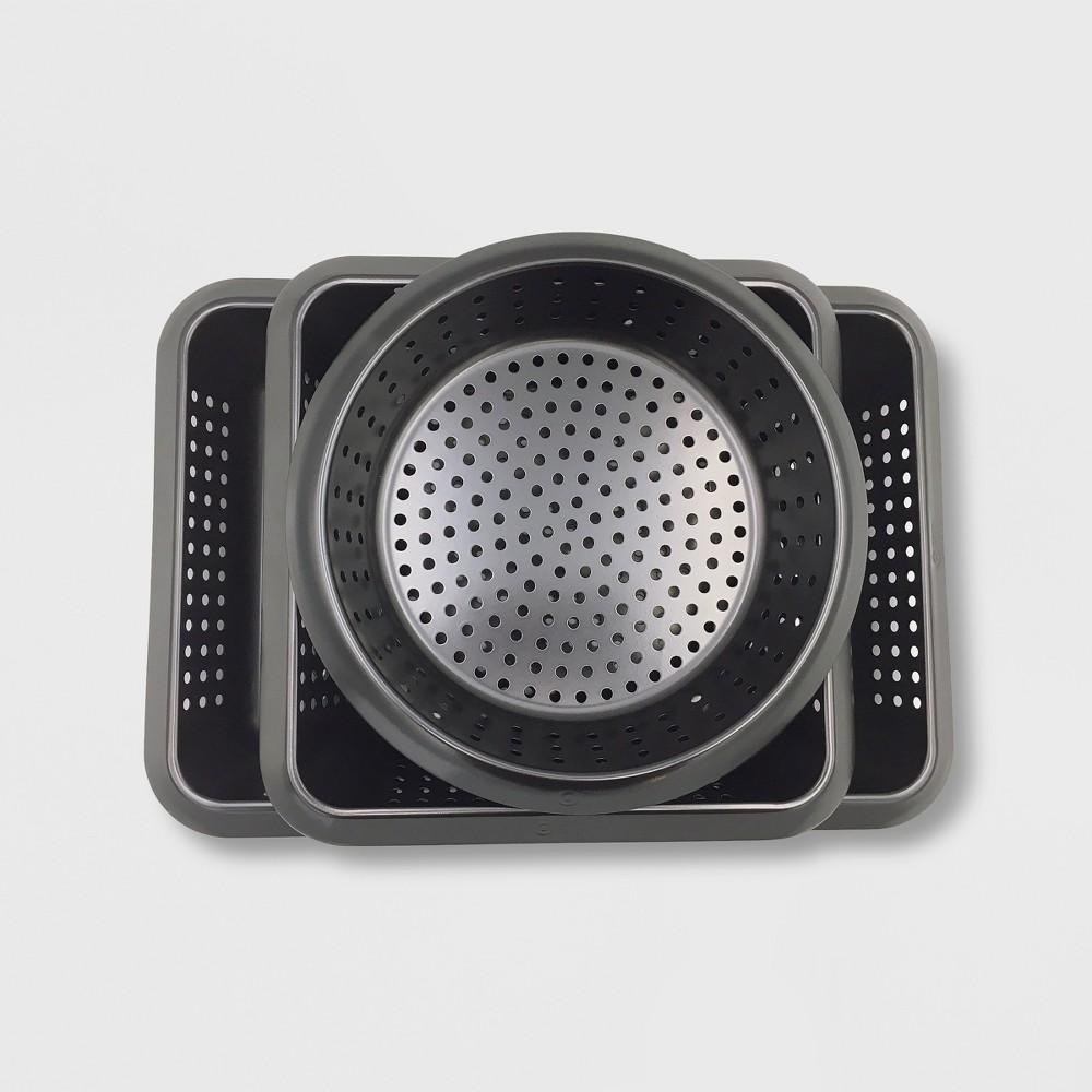 3pc Grill Basket Set Black – Made By Design 53834940