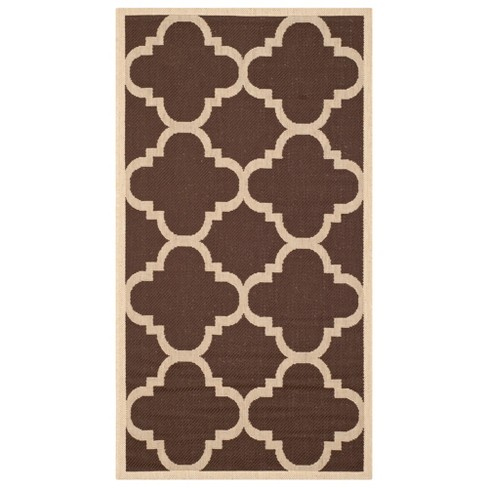 Courtyard Patio Rug Dark Brown - Safavieh® - image 1 of 1