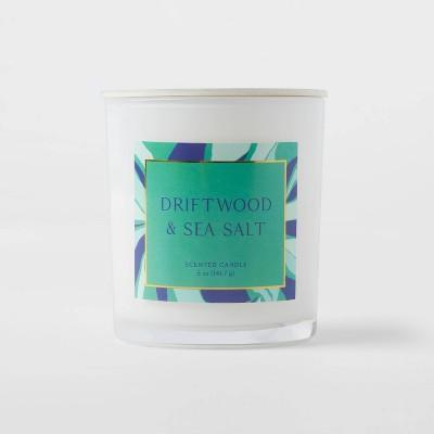 5oz Glass Jar Driftwood and Sea Salt Candle - Opalhouse™