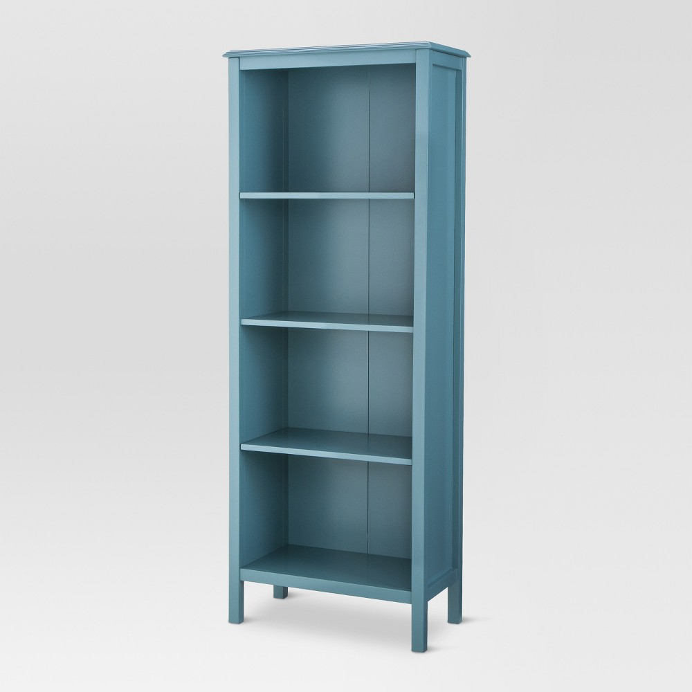 60 34 Windham 4 Shelf Bookcase Teal Threshold 8482