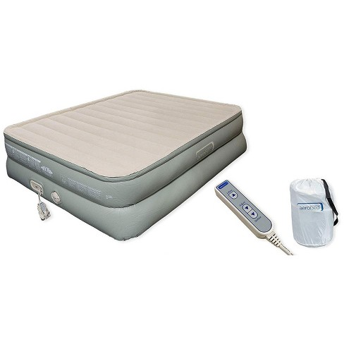 Aerobed 2000017310 Indoor Outdoor Premier Luxury 3 Layer Standard Queen Air Mattress Inflatable Bed with Built In Pump Wand Remote and Carrying Case - image 1 of 1