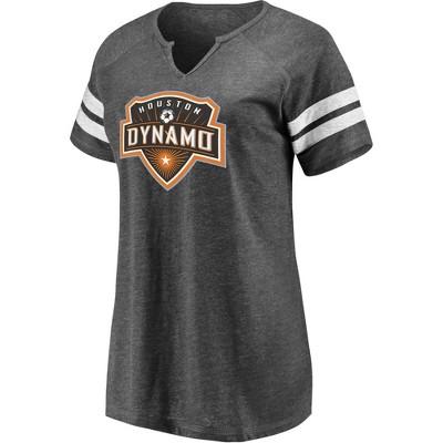MLS Houston Dynamo Women's Short Sleeve Split Neck T-Shirt