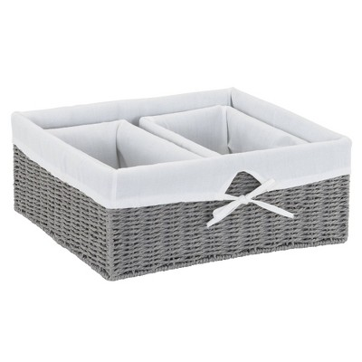 Household Essentials 3pc Paper Rope Utility Baskets Gray