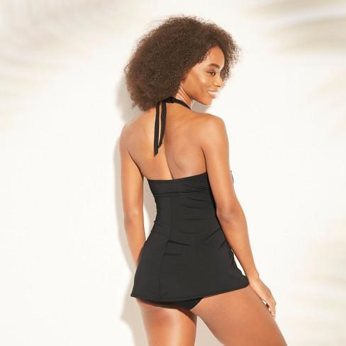 fb5fba268f5b4 Women's Smocked Swim Dress - Kona Sol™ Black XL : Target
