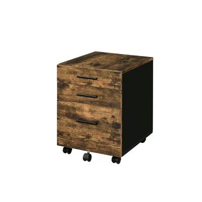 Abner File Cabinet Weathered Oak - Acme Furniture