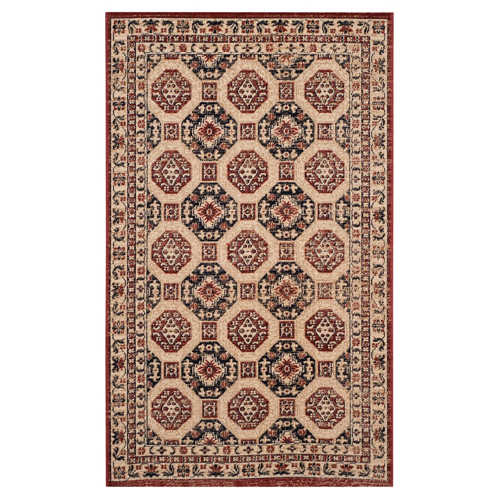 Navy Rust Abstract Woven Accent Rug 3 39 X5 39 Safavieh