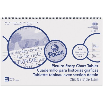 Pacon Picture Story Chart Tablet, 24 x 16 Inches, 25 Sheets