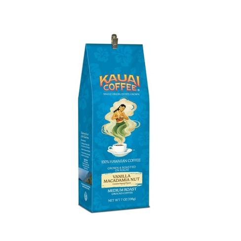 Kauai Coffee Vanilla Macadamia Nut Medium Roast Ground Coffee - 7oz - image 1 of 4