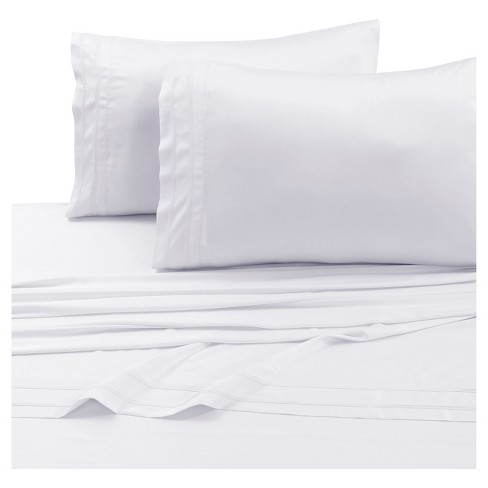 Rayon From Bamboo Deep Pocket Solid Sheet Set 300 Thread Count - Tribeca Living® - image 1 of 1