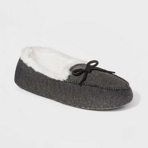 Boys' Moccasin Slippers - Cat & Jack™ Gray - image 1 of 3