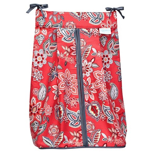 Trend Lab Red Flowers Diaper Stacker - image 1 of 2