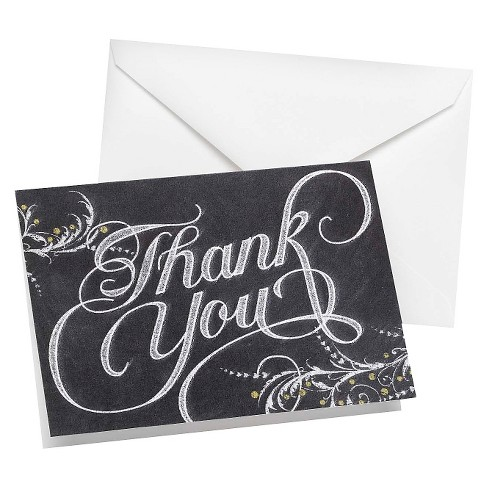Chalkboard Thank You Card Pack - image 1 of 1