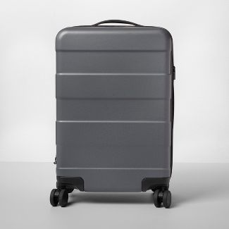 """Hardside 20"""" Carry On Spinner Suitcase Dark Gray - Made By Design™"""