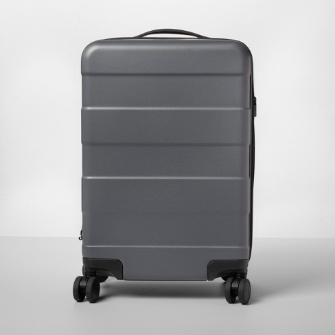 "Hardside Carry On Spinner Suitcase 20"" Dark Gray - Made By Design™ - image 1 of 10"